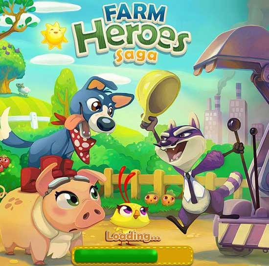 Games similar or like Candy Crush Saga -  Farm-Heroes-Saga