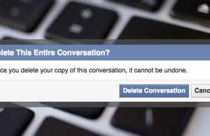 Delete Facebook Conversation