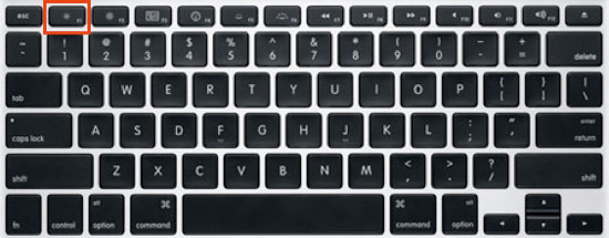 How to turn off backlit or backlight of MacbookPro keyboard