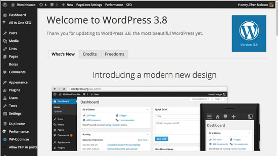 Wordpress-3.8-Parker