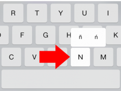 how to type small enye on iOS