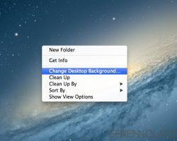 How to change desktop background in mac
