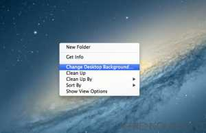 How to change desktop background in mac