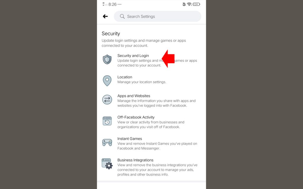 Know if Someone Open your Facebook Account mobile Step 2