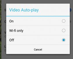 Turn Off AutoPlay video on Facebook