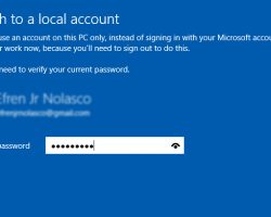 How to switch windows 10 login
