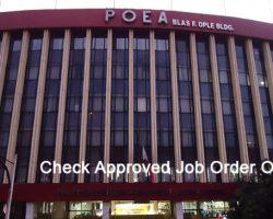 POEA Job Order