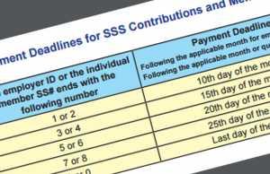 SSS Payment dealine