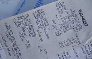 Fake receipts