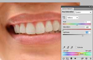 Whitening Teeth using Photoshop