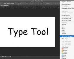 Photoshop Tutorial: Type Tool