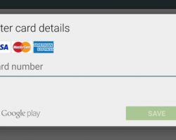 Payment Methods in Google Play Store