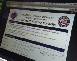 OFW Driver's License application for unclaim card