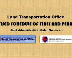 LTO Violations Fines and Penalties