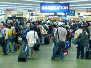 Overseas Filipino Workers in the Immigration Phase in the airport