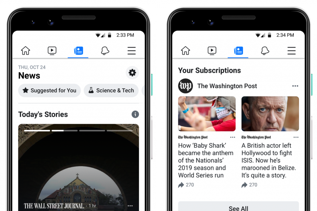 Facebook's News Tab to Roll Out to the U.S.