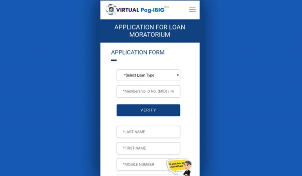 How to apply Pag-IBIG Fund Loan Moratorium step 1