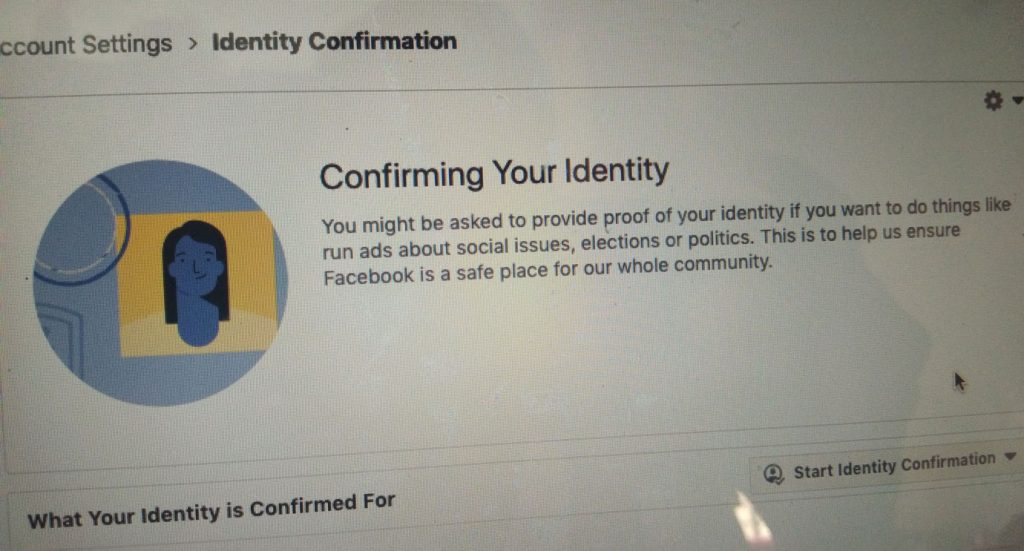 Confirm-Facbook-Identity